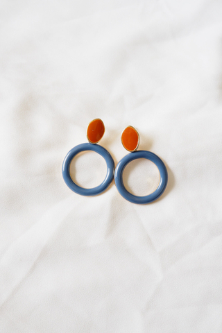 Roundy Earstuds (Blue)