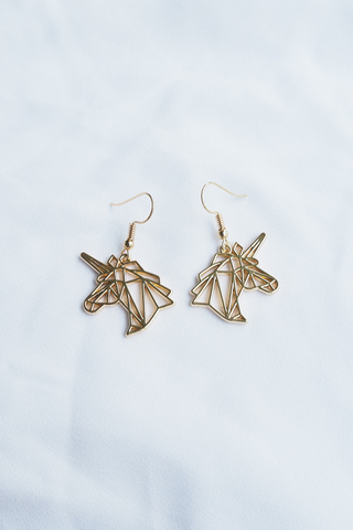 Unicorn Cutout Earrings