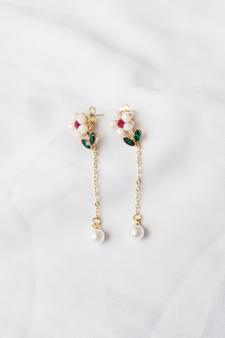 Mini 2 Way Flower Earstuds (Pink)