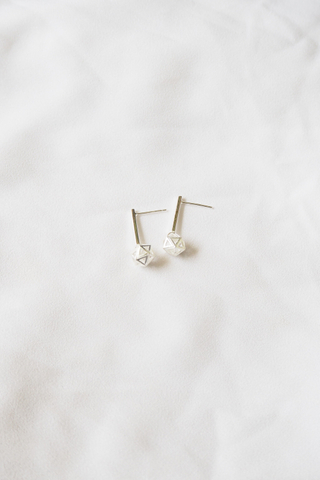[Backorder] Hexagon Dangle Earstuds