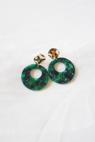 Pori Abstract Earstuds (Emerald)