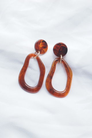 Nura Earstuds (Brown)
