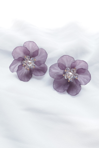 Jesmin Flower Earstuds (Purple)