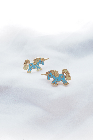 Unicorn Earstuds (Blue)