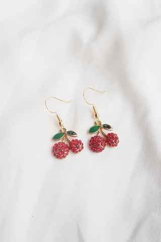 Bling Bling Cherry Earrings