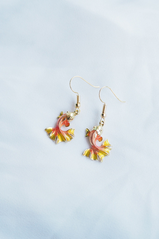 Mini Gold Fish Earrings