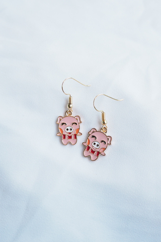 Pig Earrings (B)