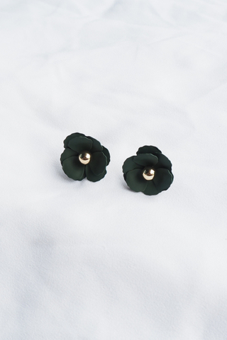 Vil Flower Earstuds (Forest)