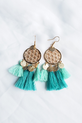 Tania Dream Catcher Earrings (Mint)