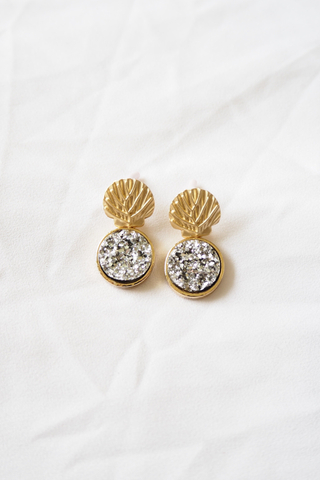 Mermaid Sparkle Earstuds (Silver)
