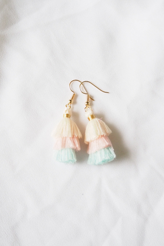 Mini Tassel Earrings (Yellow)