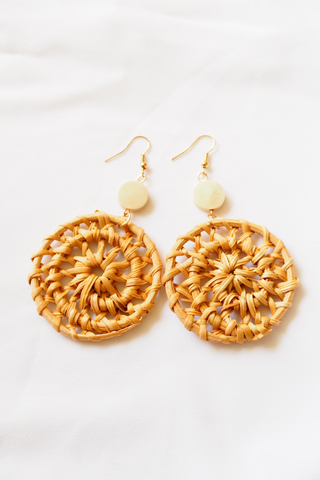 Weave Rattan Earrings