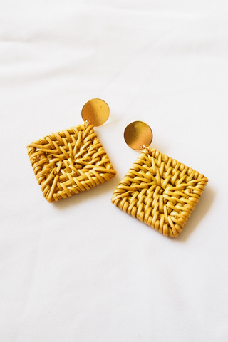 Diamond Rattan Earrings