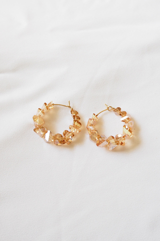 Crystal Hoops (Champagne)