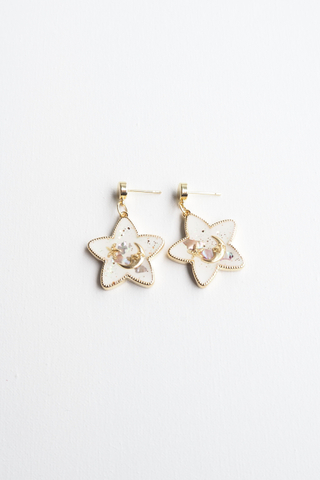 Starry Night Earstuds (White)