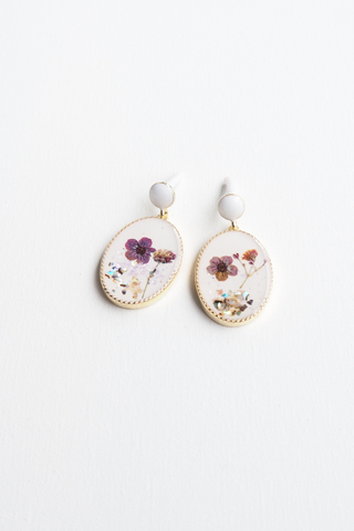 Polly Earstuds (Lavender)