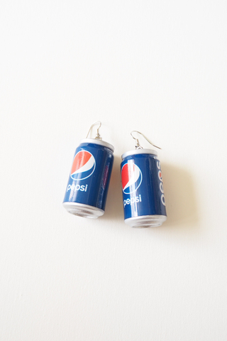 Canned Drink Earrings (Pepsi)
