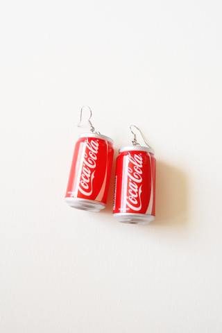 Canned Drink Earrings (Coke)