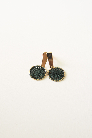 Mini Crotchet Earstuds (Forest)
