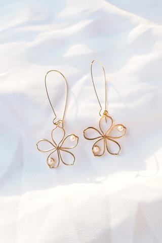 Flower Loop Earrings
