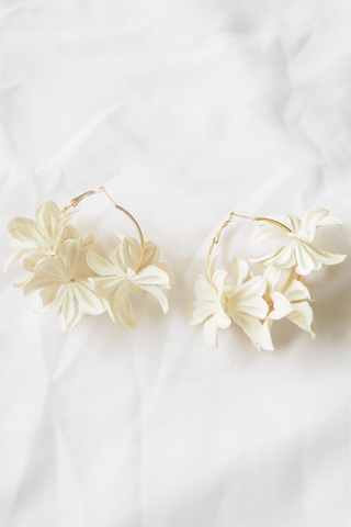 Breu Floral Hoops (Cream)