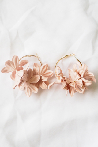 Breu Floral Hoops (Light Pink)