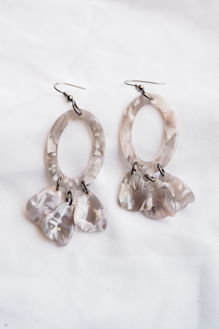 Breena Acrylic Earrings (B)