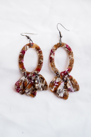 Breena Acrylic Earrings (A)