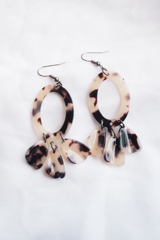 Breena Acrylic Earrings (C)