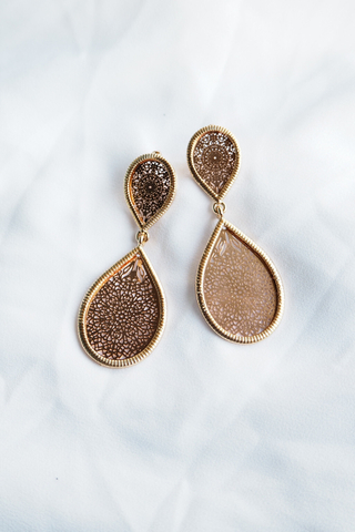 Rose Gold Teardrop Earstuds