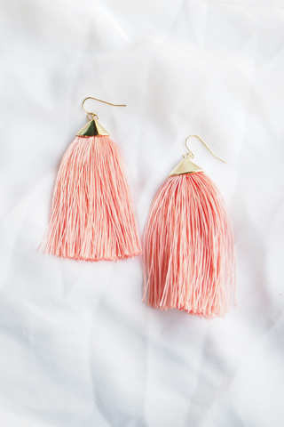 Eliana Tassel Earrings (Pink)