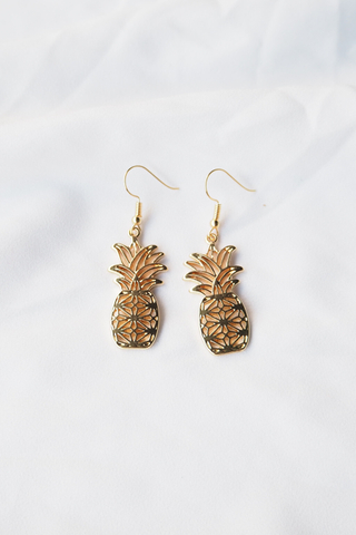 Pineapple Cut Out Earrings