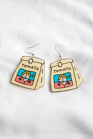 Tomato Bag Earrings