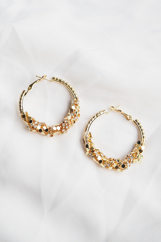 Bling Bling Hoops (Gold)