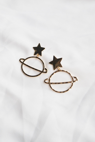 Star & Planet Earstuds (Gold)