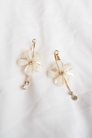Millicent Flower Hoops