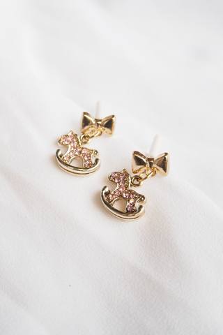 Rocking Horse Earstuds (Pink)