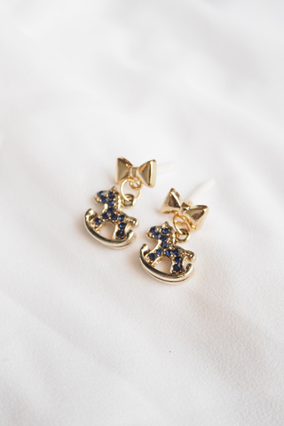 Rocking Horse Earstuds (Navy)