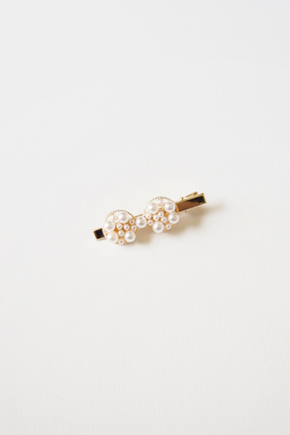 Pearl Barrette (Mini Bow)