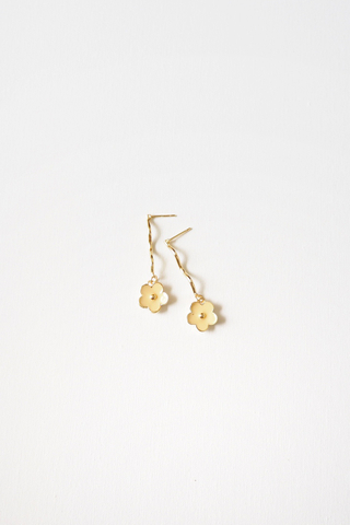 Floral Wavy Earstuds (Yellow)