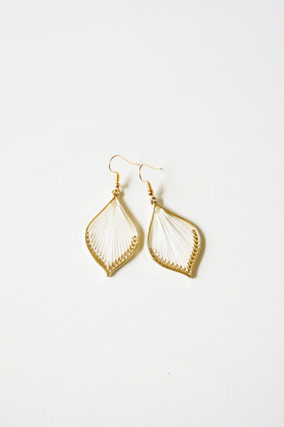 Cory Earrings (White)