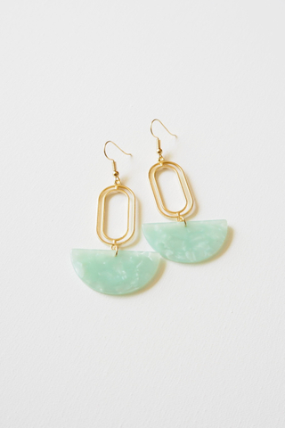 Rino Earrings (Seafoam)