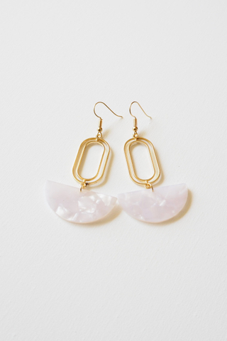 Rino Earrings (White)