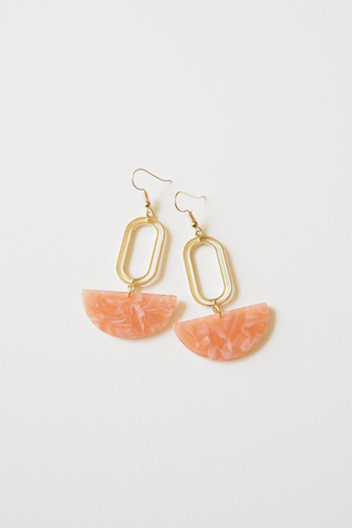 Rino Earrings (Salmon)