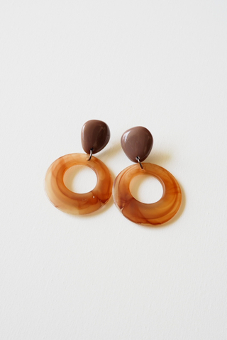 Cassan Earstuds (Brown)