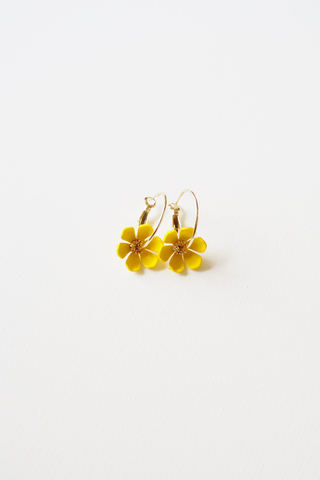Mini Flower Hoops (Yellow)