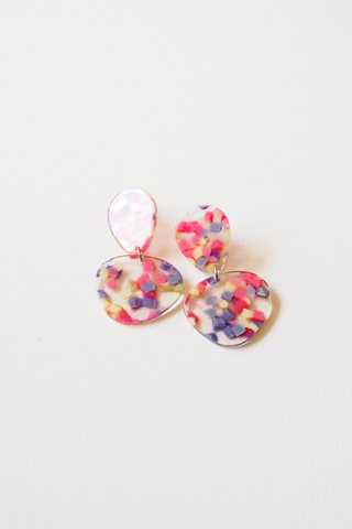 Mini Reagan Earstuds (Pink)