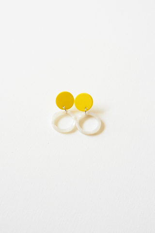 Mini Round Earstuds (Yellow)