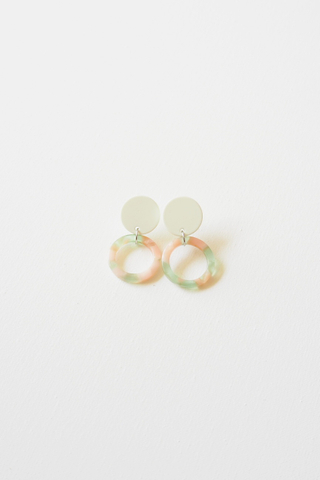Mini Round Earstuds (White)
