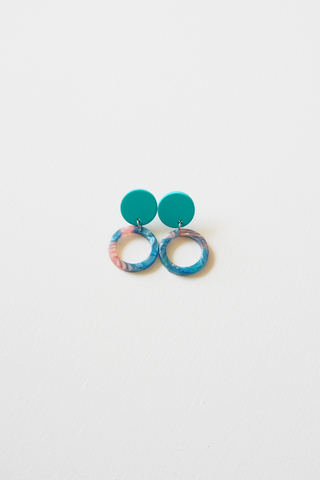 Mini Round Earstuds (Blue)